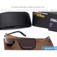 Kacamata Sunglasses Porsche Design P8491 Brown Premium Quality