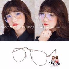 Spesifikasi Kacamata Vasckashop Aviator Lizzy Silver Dan Harga