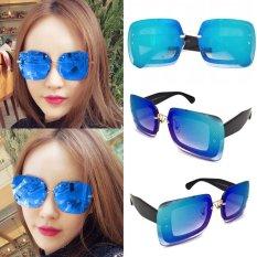 Spesifikasi Kacamata Vasckashop Mm Square Rimless Blue Bagus