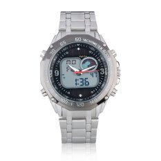 Harga Kaletco Pria Solar Watches Full Steel Waterproof Led Watch Black 091F Intl Kaletco Indonesia
