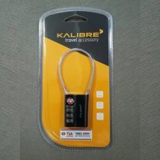 Kalibre Gembok TSA Lock Numeric Numerik 3 Digit Angka Shakel Kawat Wire Shackle Koper Luggage Travel Accessory Aksesoris Hitam 994065-999