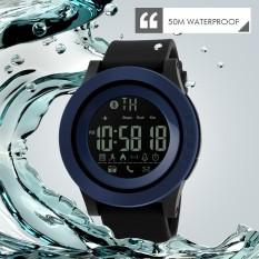 Kalori SKMEI Merek Perhiasan Pria Cerdas Menonton Olahraga Bluetooth Pedometer Jam Pengingat Chrono Digital Tahan Air Jam Tangan Relogios1255-Intl