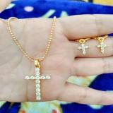 Beli Kalung Anting Salib Gold Cantik Xuping Online
