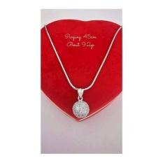 Harga Kalung Casandra Bola Perak 925 Perhiasan Wanita Silver Lapis Emas Fullset Murah