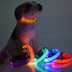 Kalung Collar Anjing Luminous Led Size L [multi-Color] By Jp-Shop.