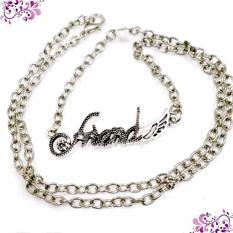 Kalung Couple Friends - Kalung Silver Aksesoris Imitasi Fashion Couple untuk Pria Wanita Kado Ulangtahun Murah Kalung Pasangan Valentine