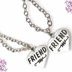 Kalung Couple Love Friends - Kalung Silver Aksesoris Imitasi Fashion Couple untuk Pria Wanita Kado Ulangtahun Murah Kalung Pasangan Valentine