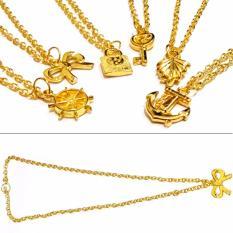 Kalung Emas Liontin Paket Grosir Murah isi 6 - Kalung Emas imitasi Aksesoris Imitasi Fashion Anak dan Wanita