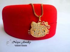 Kalung Hello Kitty Lapis Emas ~ Aksesories Cantik ~ Nesya Jewellry