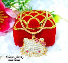Kalung Hello Kitty Unyu ~ Unyu Lapis  Emas … Nesya Jewellry