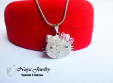 Kalung Hello Kitty Unyu ~ Unyu Lapis Emas Putih … Nesya Jewellry