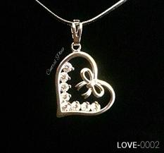 Kalung Korea Xuping Berliontin SILVER LOVE-0002