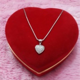 Harga Kalung Liontinlove Permata Perak 925 Lapis Emas Putih Perhiasan Silver Kalung Wanita Perak Asli Fullset Murah