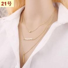 [PROMO] Kalung Rantai Import Korea Lapis Emas Perhiasan Imitasi LYS43