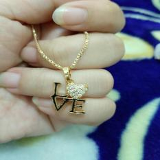 Jual Kalung Tulisan Love Cantik Xuping Grosir