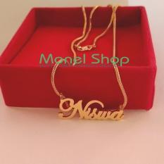 Kalung Ukir Nama Lapis Emas - Perhiasan Custom Nama - Berkualitas - R9qfaf
