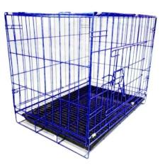 Kandang Besar Besi Lipat Tebal Size L 60X55X45 Kucing Anjing Puppies Musang