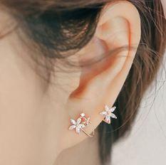 Toko Anting Stud Tusuk Melengkung Hias Bunga Berlian Imitasi Dekat Sini