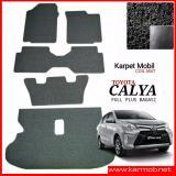 Spesifikasi Karpet Mobil Calya Full Plus Bagasi Warna Hitam Baru