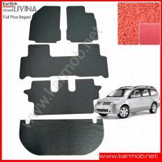 Karpet Mobil Grand Livina Full Plus Bagasi - Warna Merah
