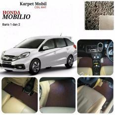 Karpet Mobil Honda Mobilio baris 1,2 - Warna Coklat