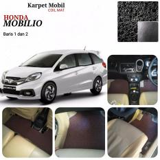 Karpet Mobil Honda Mobilio baris 1,2 - Warna Hitam