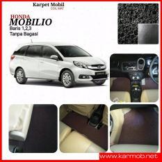 Karpet Mobil Honda Mobilio tanpa bagasi - Warna Hitam