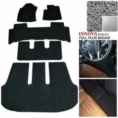 Karpet Mobil Innova Reborn Full Plus Bagasi - Warna Abu Abu
