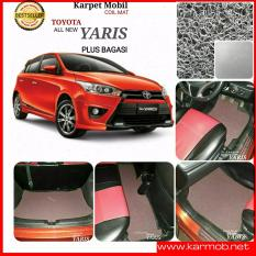 Karpet Mobil Yaris All New Plus Bagasi - Warna Abu Abu