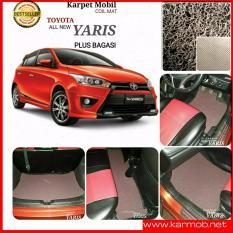 Karpet Mobil Yaris All New Plus Bagasi - Warna Coklat