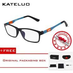 KATELUO 13022 Kacamata Komputer Anti Radiasi Pria Wanita Frame Ringan - Free Kotak Hardcase Original