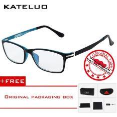 KATELUO 13025 Kacamata Komputer Anti Radiasi Pria Wanita Frame Ringan Korean Fashion Style- Free Kotak Hardcase Original