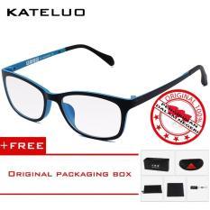 KATELUO 13031 Kacamata Komputer Anti Radiasi Pria Wanita Frame Ringan Korean Fashion Style- Free Kotak Hardcase Original