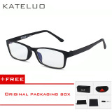 Promo Kateluo Kacamata Radiasi Kacamat Komputer Anti Lelah Untuk Pria Wanita Hitam Beli 1 Gratis 1