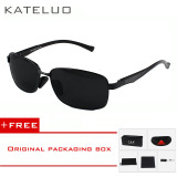 Beli Kateluo Aluminum Magnesium Alloy Men Sunglasses Polarized Lens Driver Mirror Glasses Male Fishing Outdoor Sports Eyewears 7755 Black Buy 1 Get 1 Freebie Kredit Tiongkok