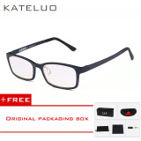 Review Toko Kateluo Brand Tungsten Carbon Computer Goggle Anti Blue Laser Fatigue Radiation Resistant Reading Glasses Frame Eyeglasses Oculos De Grau 1310 Blue Buy 1 Get 1 Freebie Online