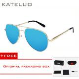 Toko Kateluo Fashion Sun Glasses Polarized Coating Mirror Driving Men Ssunglasses Oculos De Sol Male Eyewear Accessories For Men Women0922 Gold Blue Buy 1 Get 1 Freebie Online Terpercaya