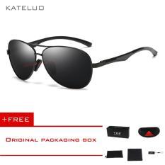 Spesifikasi Kateluo Kacamata Pria Aluminum Magnesium Polarized Aviator Oculos Outdoor 7757 Hitam Buy 1 Get 1 Freebie Intl Online