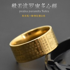 Kebijaksanaan Retro Buddha Polo Madu Sutra Hati Cincin