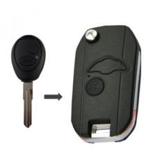 Kemani Baru Uncut Kosong Modifikasi Lipat Lipat Shell Jarak Jauh Kunci Mobil 2 Tombol untuk 1999-2004 Land Rover discovery-Internasional