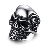 Katalog Kemstone Vintage Punk Crystal Skull Rings Titanium Steel Ghost Head Ring For Men Intl Terbaru