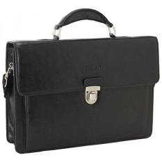 Kenneth Cole Reaction True Colors Genuine Leather Portfolio - Black - intl