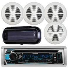 Kenwood KMR-D368BT Marine In-DASH Radio Bluetooth Receiver Bundle Combo dengan 2 Pasang Aquavibe WR45W 5