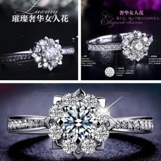 Kepingan salju 18K sterling silver cincin berlian OT571OTAARA64UANID-60959115 Taobao
