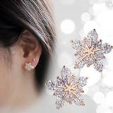 Spesifikasi Kepingan Salju Korea Fashion Style Kristal Anting Dan Harga