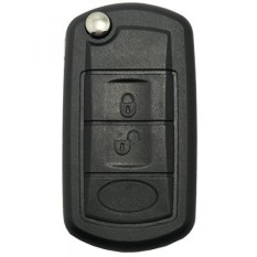 Kunci Fob Kasus FR Land Rover Discovery LR3 Jarak Rover Olahraga Tanpa Kunci Masuk Jarak Jauh Pengendali Lipat Lipat Mobil Kunci Fob shell 3 Tombol Penggantian dengan Uncut Pedang Kosong-Internasional