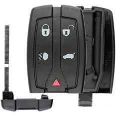 Keylessoption Tanpa Kunci Masuk Jarak Jauh Pintar Kunci Fob Shell Casing Tombol Alas Kunci Lipat Sarung Perumahan untuk Land Rover-Internasional