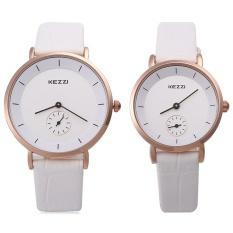KEZZI KW-1080 Beberapa QUARTZ Watch Round Dial dengan Kecil Kedua Dial Jam Tangan-Intl