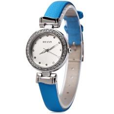 KEZZI KW-978 Wanita QUARTZ Jam Tangan Ramping Pita Kulit Jam Tangan Allwin-Internasional