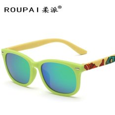 Anak-anak 2016tr90 Anak-anak Sunglasses Kacamata Colorful Trend Arc Kaki Polarized Green dengan